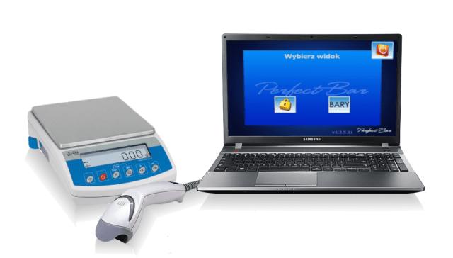System Perfect Bar składa się z wagi elektronicznej, laserowego czytnika kodów kreskowych oraz autorskiego oprogramowania. Perfect bar, inwentaryzacje alkoholi, pomiar alkoholu, remanenty barów